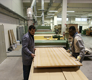 Production proces Lambri Woodpanels